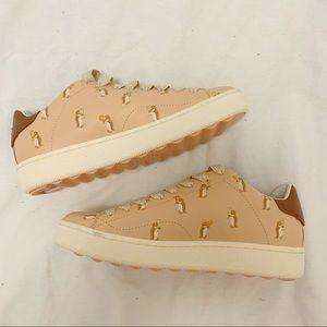 Coach Leather Penguin Cherry Shoe Sneaker 10G1941